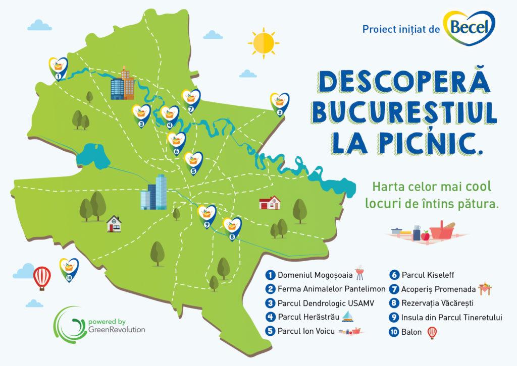 Harta Bucuresti picnic